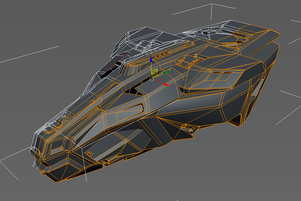Anshar Online spaceships: Modeling part and defining details.