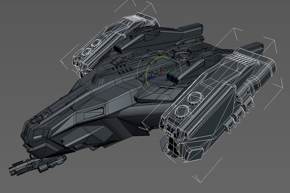 Anshar Online spaceships: 3D Modeling finished.